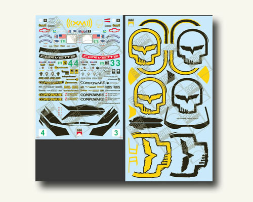 SMS 2020 1/25 Bad Boyz Logo Decal Sheet for Corvette C6R Builder